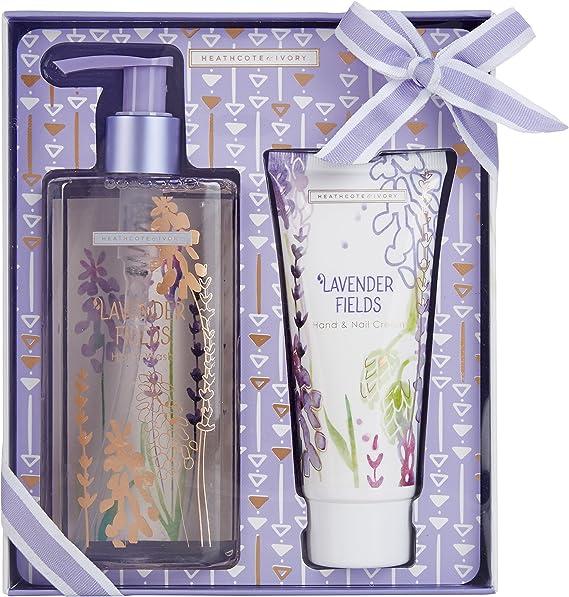 Lavender Fields, Heathcote & Ivory, hand & nail cream collection. 3 x 30ml