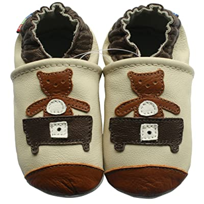 carozoo sandals brown 12-18m new soft sole leather baby shoes