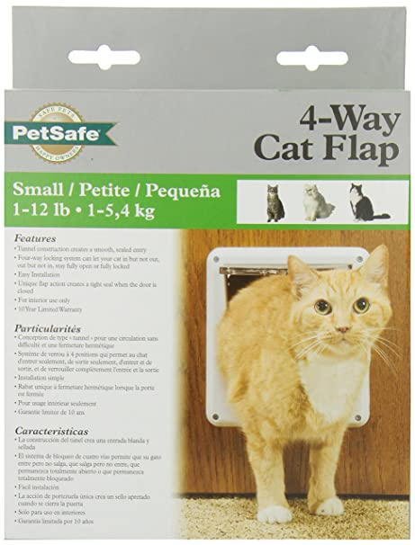 Petsafe Four Way Locking Cat Door White Amazon Ca Pet Supplies