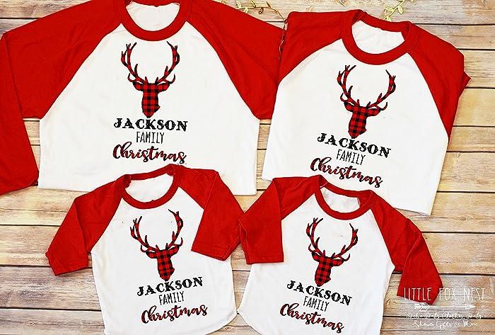 Family Christmas Shirts.Amazon Com Christmas Shirts Matching Family Shirts Deer