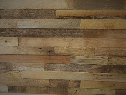 East Coast Rustic Reclaimed Barn Wood Wall Panels Easy Install Rustic Wood Diy Wall Covering For Feature Walls 20 Sq Ft 2 Wide Brown Natural