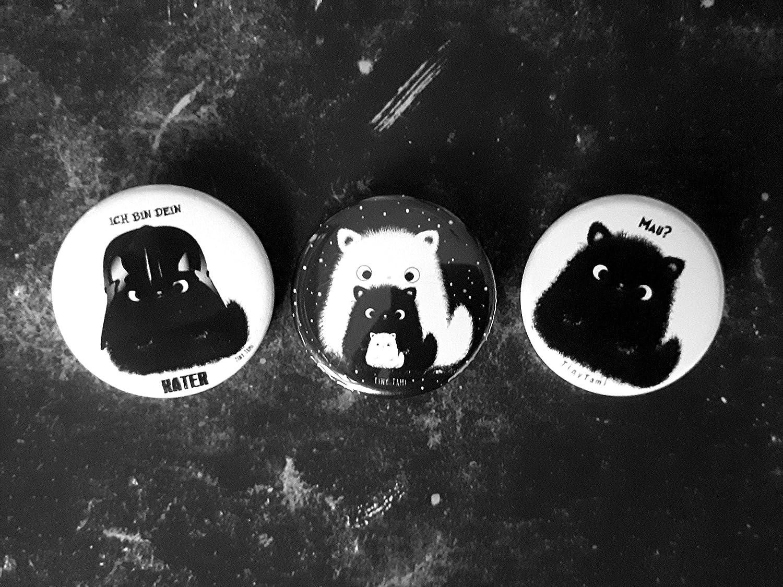 Tiny Tami ★Kater Moo ButtonIch bin dein Kater ★ Katzenbutton ★ Katze ★ Anstecker Star Wars★ Starwars Pin ★100/% handmade