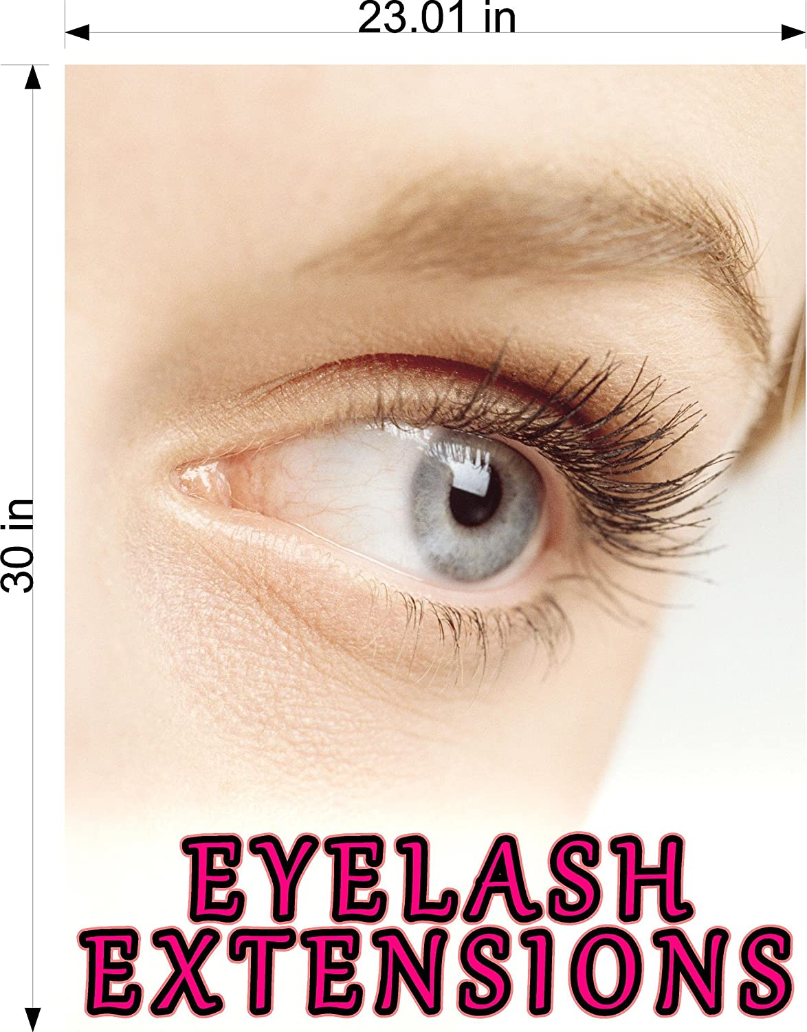 dbab698aafc Cmyads.net Eyelash X Eyelashes Eye Lash Extensions Woman Cosmetic  Perforated Window removing hair See Though Salon Poster Vinyl 70/30  Tweezers Thin Out ...