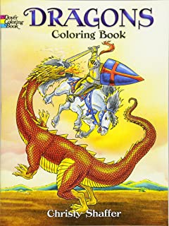 Dragons Coloring Book Dover Books