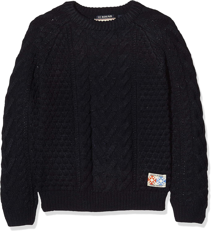 Scotch /& Soda Cable Knit Pull T-Shirt Bambino