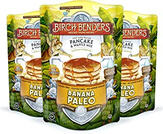 product image for Banana Paleo Pancake & Waffle Mix By Birch Benders, Gluten Free, 6g Protein, Grain Free, No Added Sugar, Non-GMO, All Natural, Just Add Water, 12 Oz Each, Pack of 3