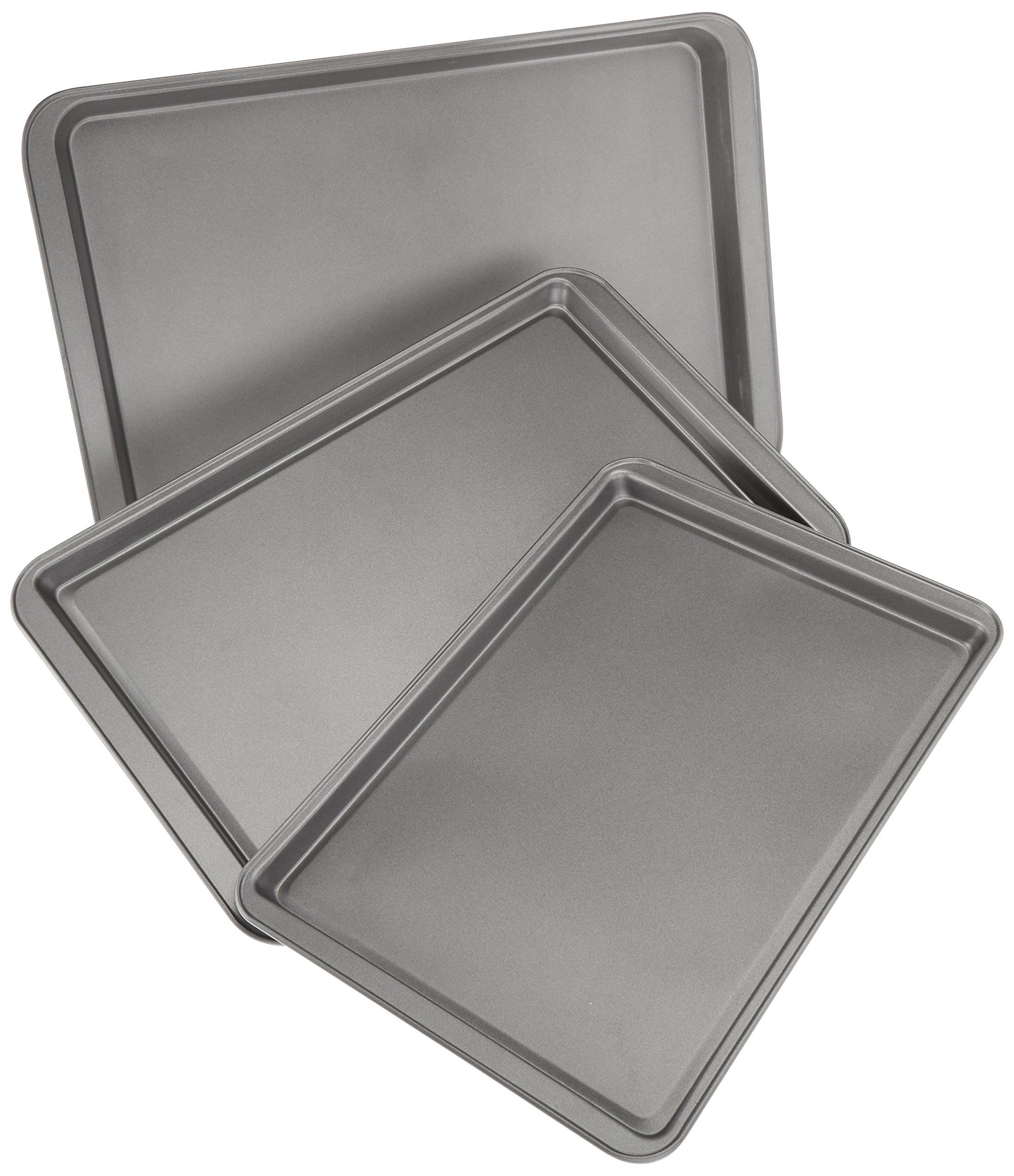 AmazonBasics 3-Piece Nonstick Baking Sheet Set by AmazonBasics