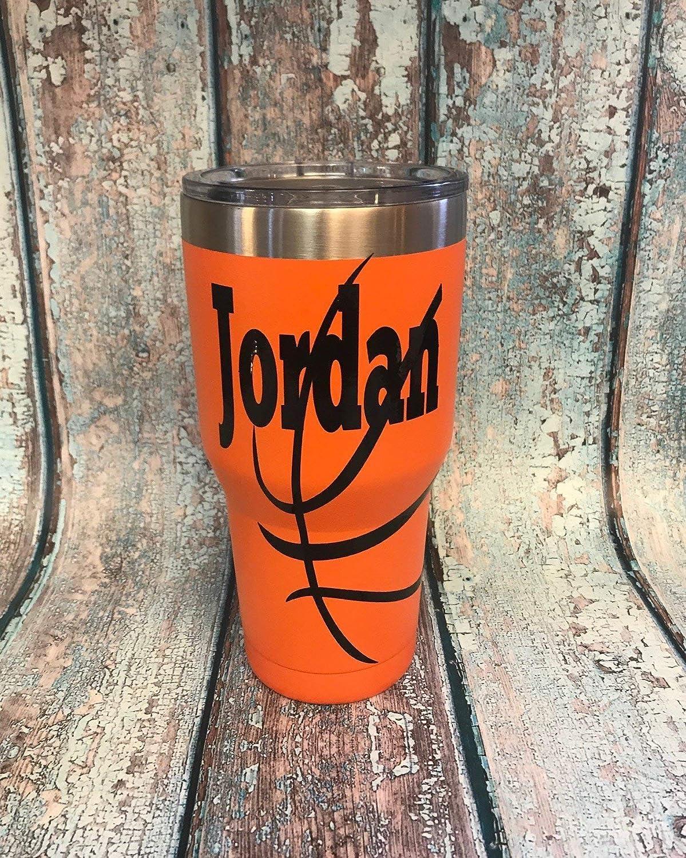 Personalized basketball tumbler