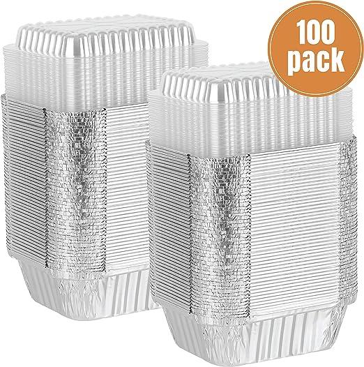 40 Count 7 Inch Steam Table Pans Disposable Pan Containers /& Board Lids Set Aluminum Round Foil Pans