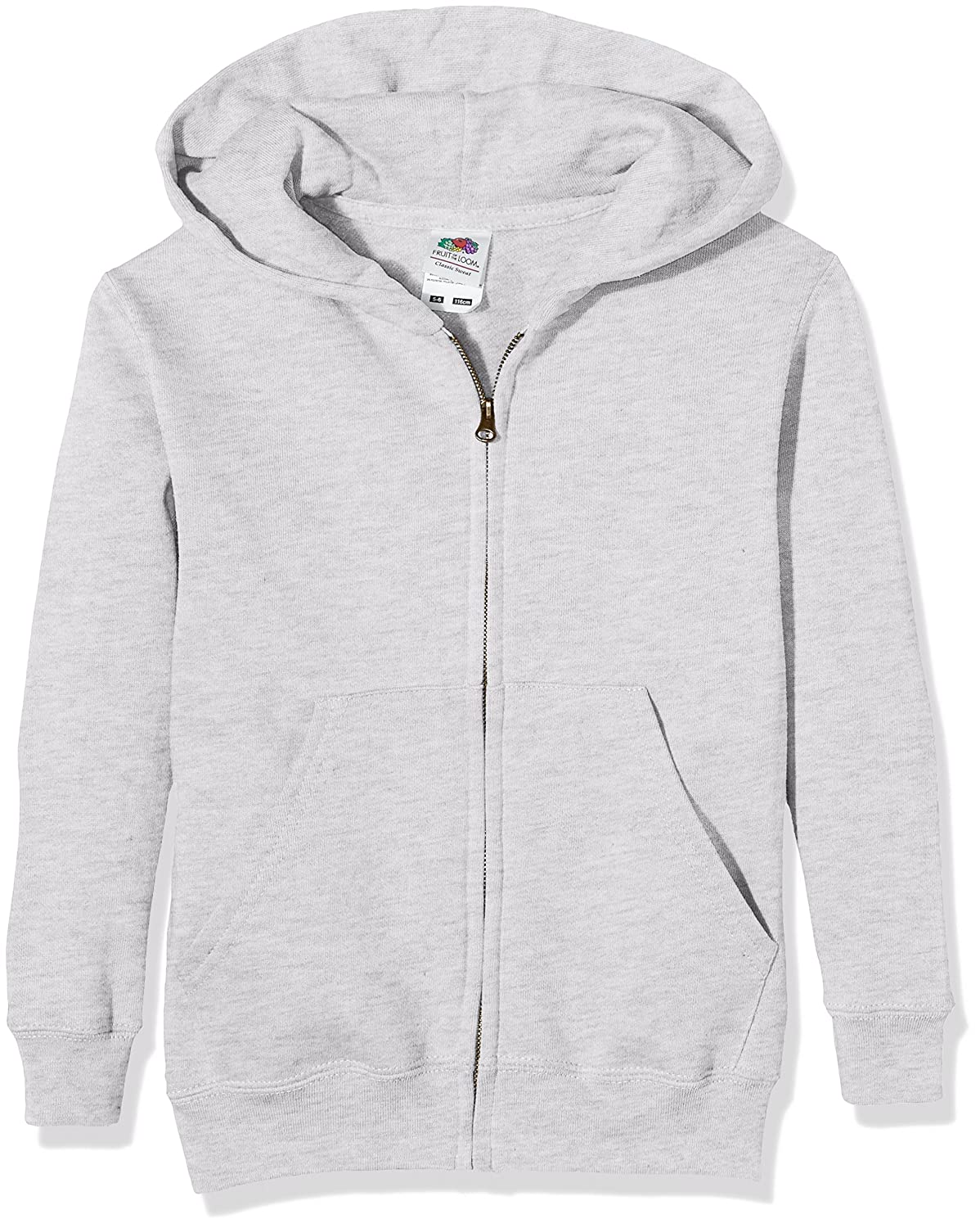 Fruit of the Loom Unisex Kids Zip front Classic Hooded Sweat