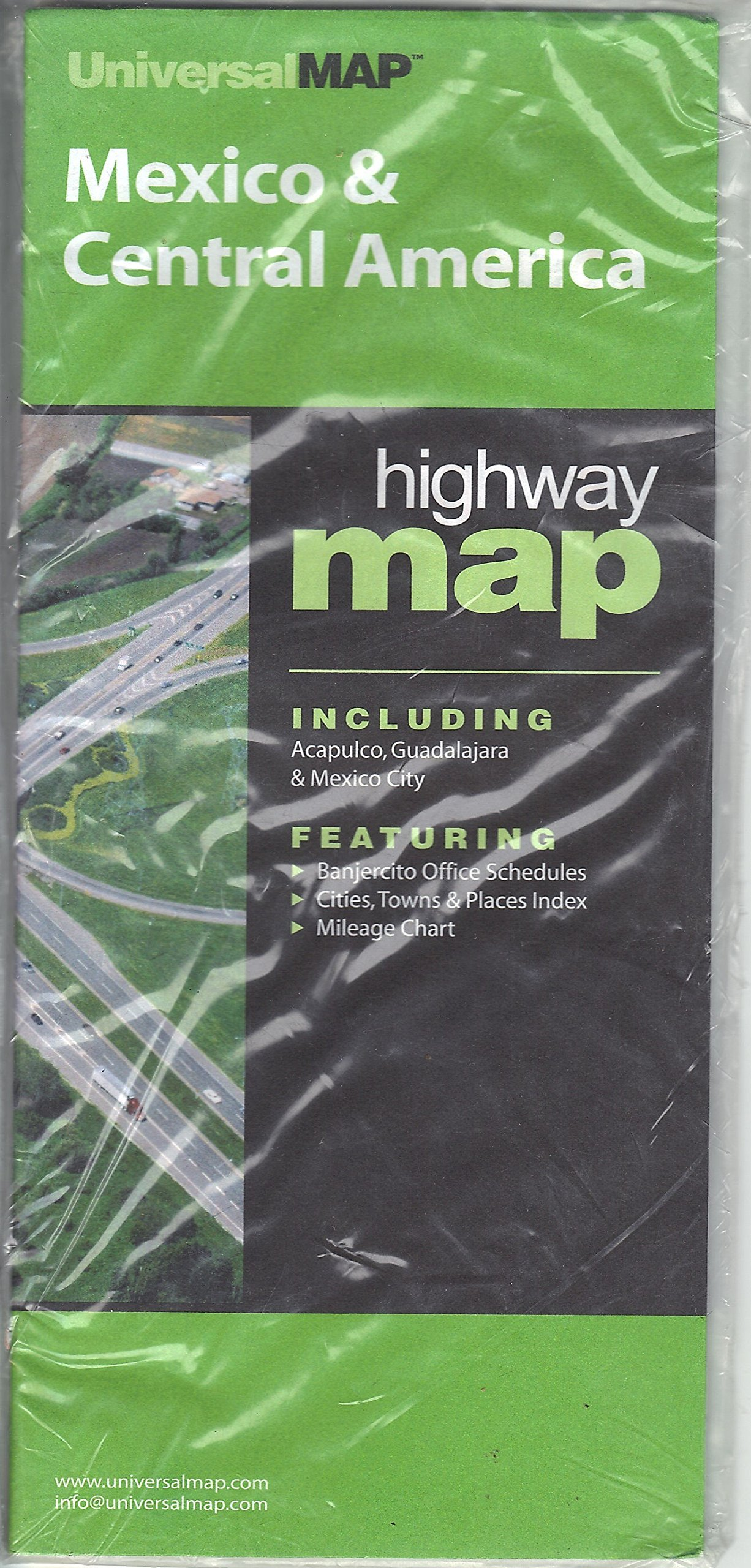Mexico & Central America Highway Map: UniversalMAP ...
