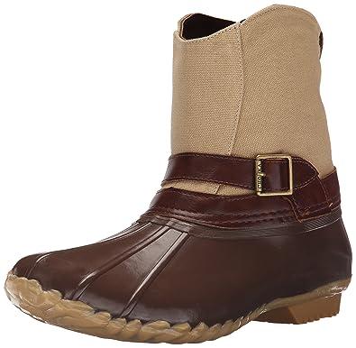 Amazon.com | Chooka Women&39s Canvas Step-In Duck Ankle Rain Boot