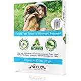 Arava Flea and Tick Control Drops Treatment for Dogs (Up to 20 lbs) - Natural, Aromatherapy Medicated. Repels Pests with Natural Oils - Safe on Skin and Coats - Enhanced Defense & Prevention