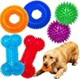 Jalousie Dog Squeaky Toys Value Set Non-Toxic Dog Squeaky Balls for Dogs Toss Fetch Toys for Dogs TPR Rubber Puppy Toys Spikey Dog Chew Toys for Small Medium Dogs Pet Toys for Puppy