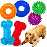 Jalousie Dog Squeaky Toys Value Set Non-Toxic Dog Squeaky Balls for Dogs Toss Fetch Toys for Dogs TPR Rubber Puppy Toys…
