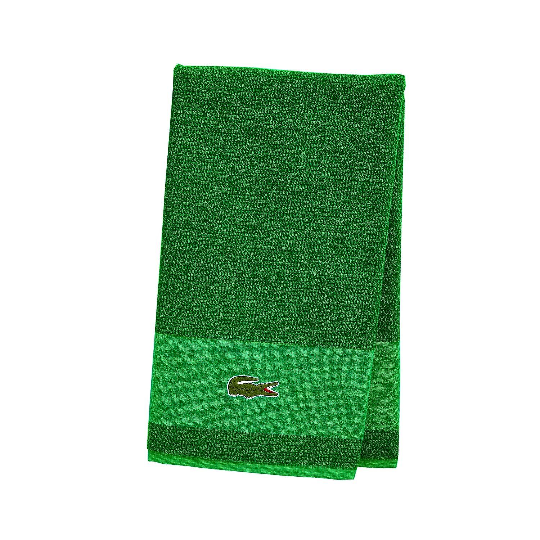 30x52 Lacoste Match Towels Beach Glass