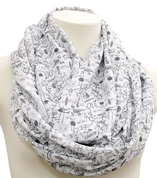 Science infinity Scarf birthday gift idea for her anniversary gift ...