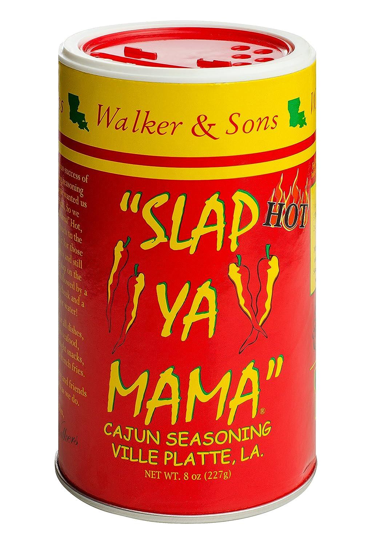 Slap Ya Mama Louisiana Style Cajun Seasoning, Hot Blend, MSG Free and Kosher, 8 Ounce Can