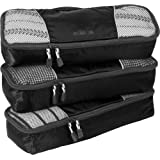 eBags Classic Slim 3pc Packing Cubes (Black)