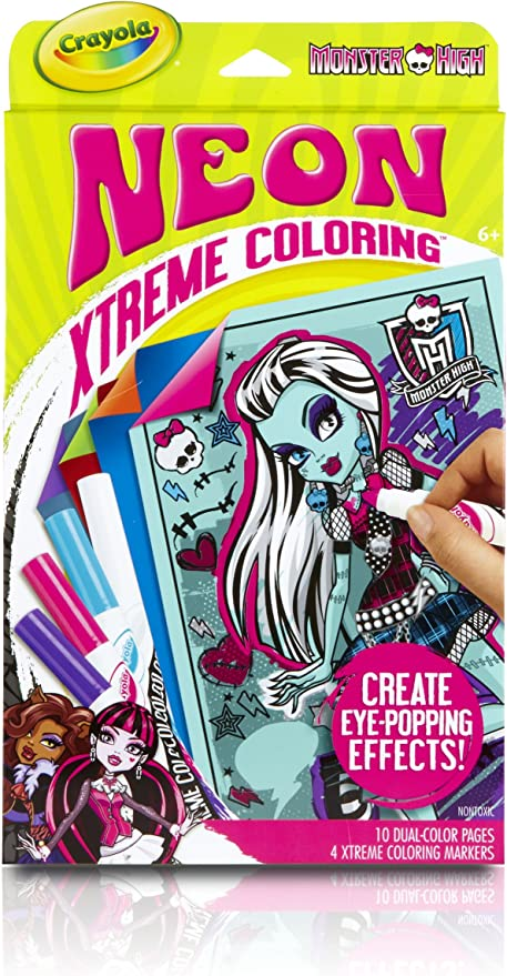Amazon.com: Crayola Neon Extreme Monster High Coloring Kit: Toys & Games