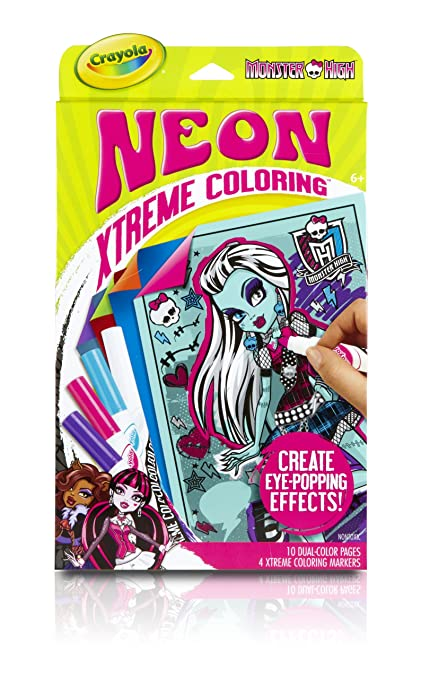Amazon Com Crayola Neon Extreme Monster High Coloring Kit Toys Games
