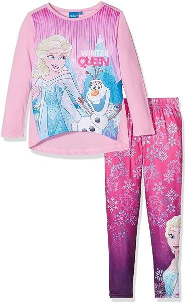 Disney Frozen Winter Queen, Conjuntos de Pijama para Niñas, Rosa (Pink 15-