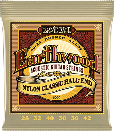 Ernie Ball Earthwood Folk Nylon Ball End Set
