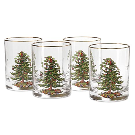 Spode Christmas Tree Glass Double Old Fashioneds Set(s) Of 4 - Amazon.com Spode Christmas Tree Glass Double Old Fashioneds Set(s
