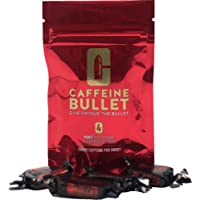 Caffeine Bullet Caffeine and Electrolyte Chews: Energy Sweets for Pre-Gym Workout, Sports, Running Races and Cycling. Caffeine Supplements for a High-Intensity Energy Boost - Mint Flavoured