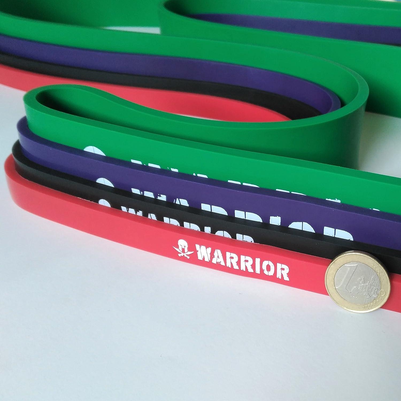 Banda elástica de Resistencia Fitness WARRIOR - Banda asistencia en dominadas (pull ups), CrossFit y Calistenia - Ejercicios de resistencia, fuerza, ...