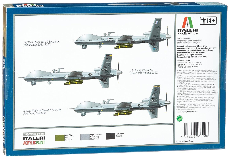 Amazon.com: ITALERI 551320 1/72 MQ-9 Reaper ITAS1320: Toys ...