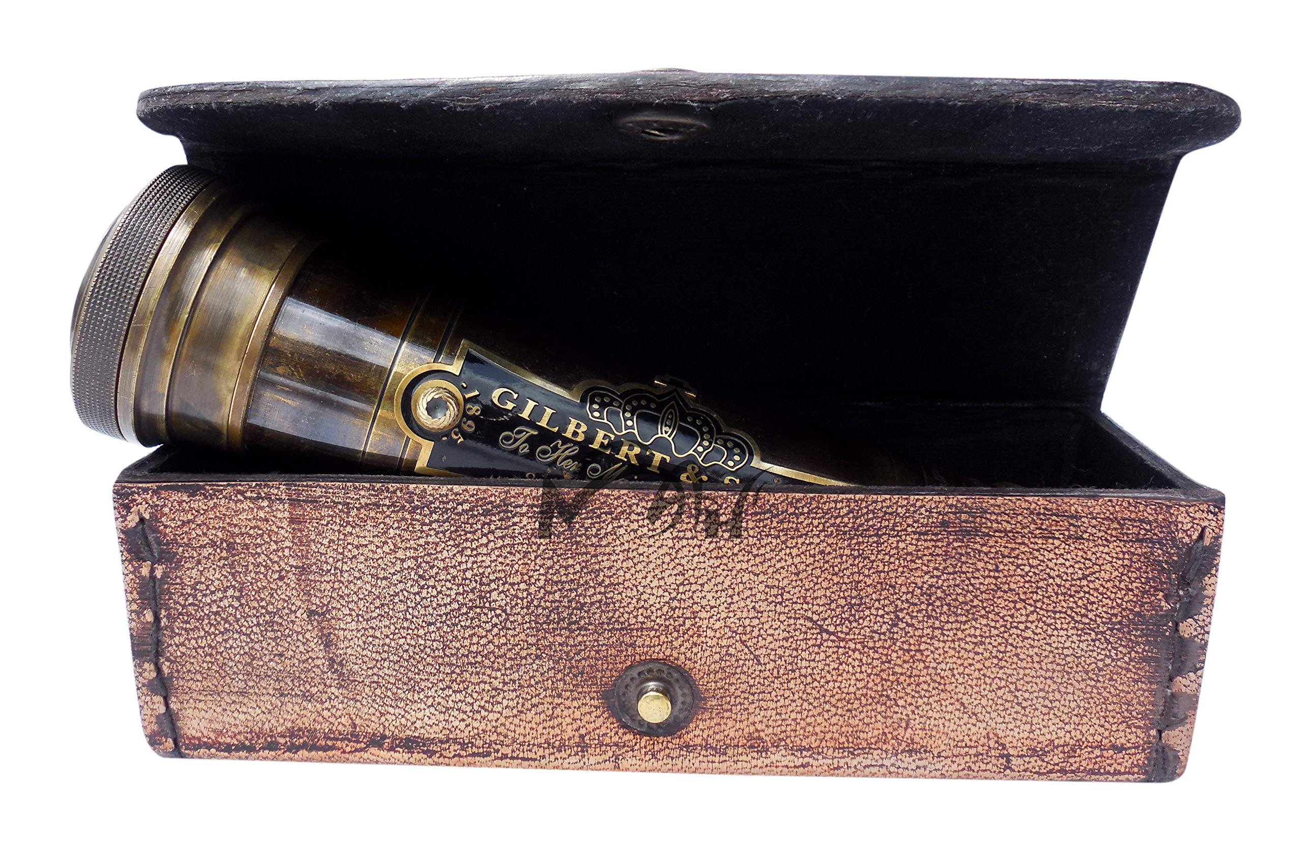 MAH Best Handmade Brass Kaleidoscope Gift for Everyone with Leather case.C-3226 by MAH
