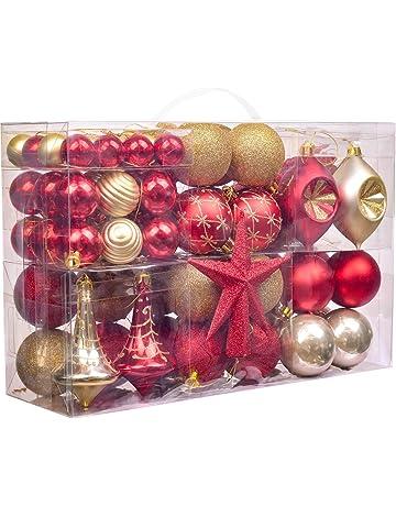 Dibujos De Navidad Para Decorar La Clase.Bolas De Navidad Amazon Es