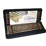 KNITPRO 25 cm Symfonie Single Pointed Needles Set, Multi-Color