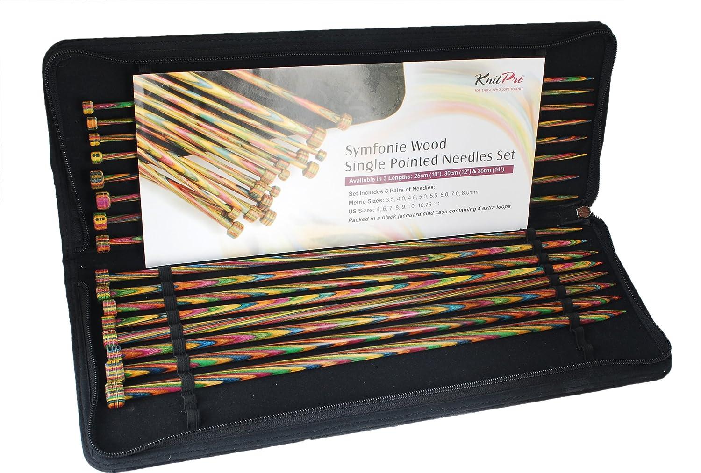 KnitPro KP20214 | Symfonie Single Pointed Knitting Needle Set | 25cm
