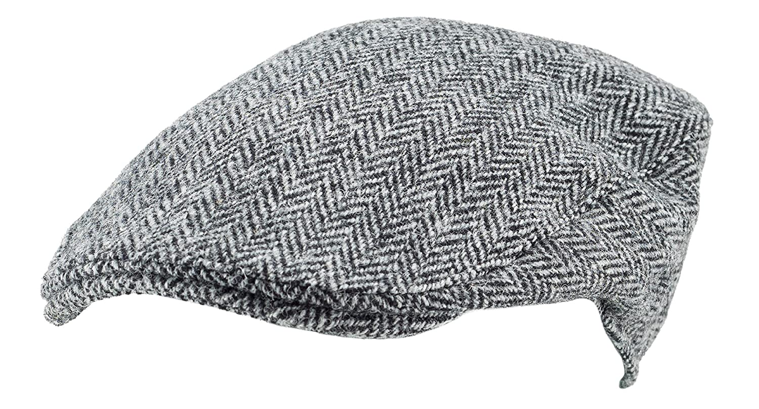 4bc9a792f9c Harris Tweed.Made in Scotland.The Aberdeen  Brad Pitt  Style Flat Cap.made  by Hanna Hats at Amazon Men s Clothing store