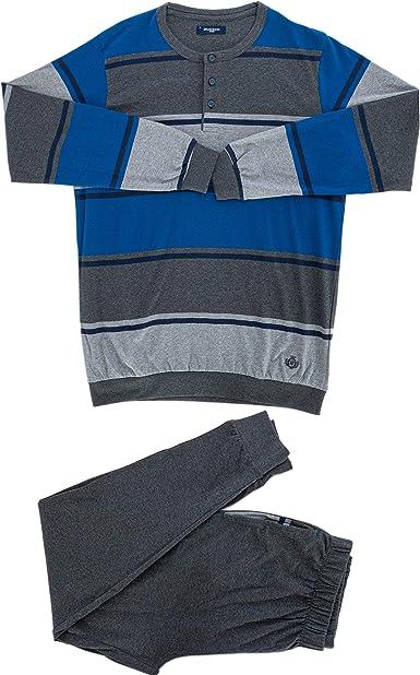 Guasch - Pijama largo gris XL: Amazon.es: Ropa y accesorios