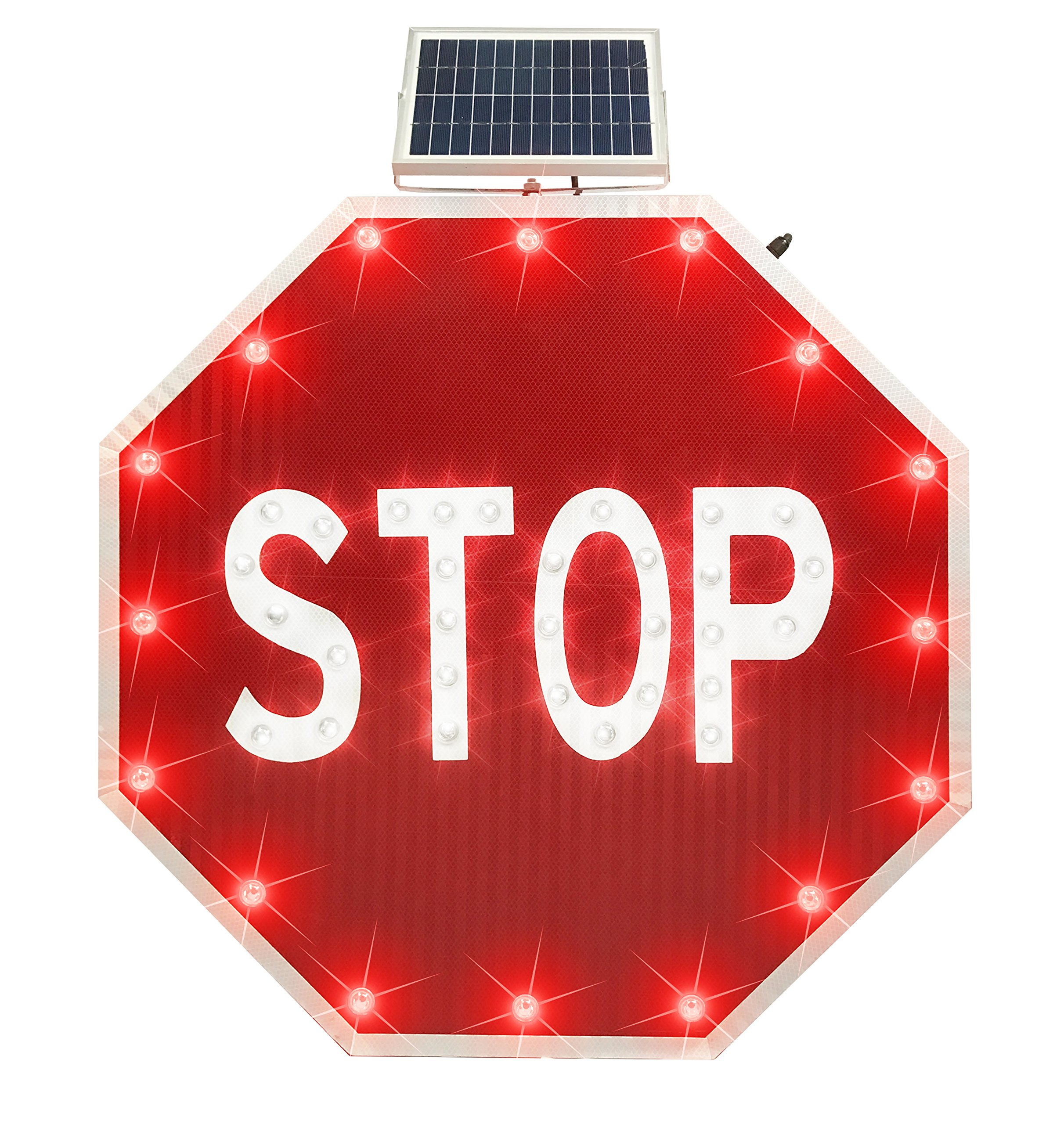 30'' Solar LED Blinking Octagon Stop Sign