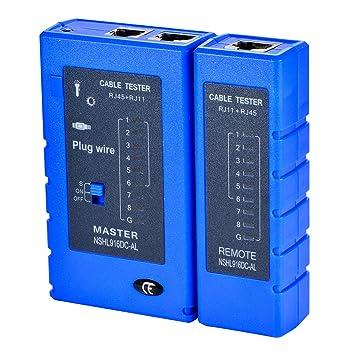Optimal Shop Network Cable Tester Test Tool RJ45 RJ11 RJ12 CAT5 CAT6 on ethernet cable diagram, usb plug wiring, cat 6 plug wiring, ethernet cable power, network plug wiring,