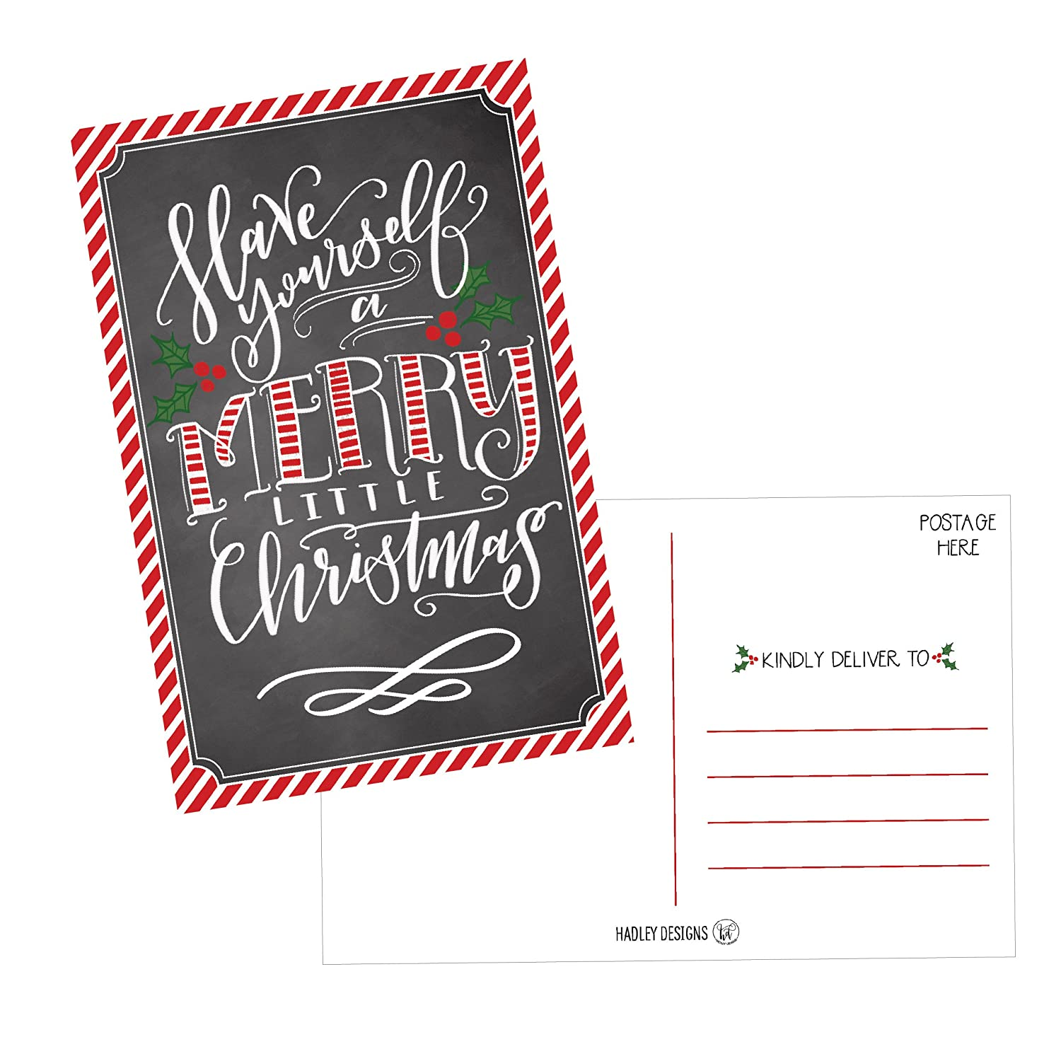 50 Holiday Greeting Cards Cute & Fancy Blank Winter Christmas Postcard Set Bulk Pack of Premium Seasons Greetings Note Happy New Years Cards for Kids Business Office or Church Thank You Notes