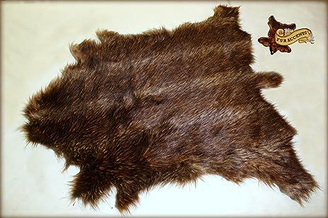 Captivating Fur Accents Faux Deer Skin Hide Pelt Rug / Luxury Faux Fur / Sheepskin Bear  Skin