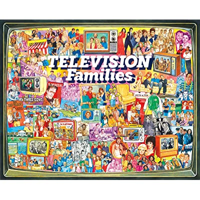 White Mountain Puzzles TV Families - 1000 Piece Jigsaw Puzzle: Toys & Games