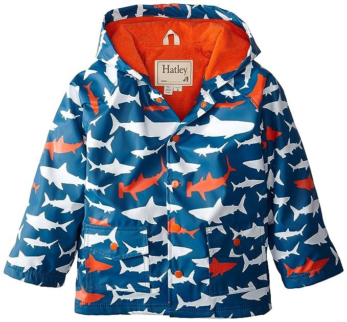 Hatley Boys Raincoat - Lots of Sharks - Chaqueta de Manga Larga para niño: Amazon.es: Ropa y accesorios
