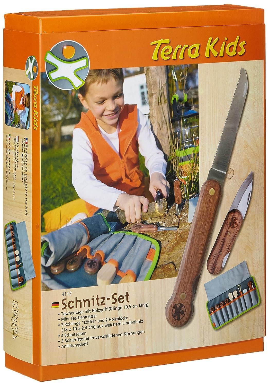 Haba 4112 Terra Kids großes Schnitz-Set Camping- und Reiseartikel Creativ / Schneiden Schnitzen und Sägen Messer und Scheren