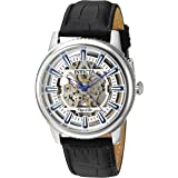 Invicta Men's Objet D Art Stainless Steel Automatic-self-Wind Watch with Leather-Calfskin Strap