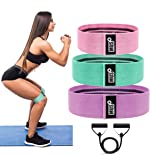 Resistance Bands 4 Pk for Perfect Legs, Hips, Glutes and Butt;