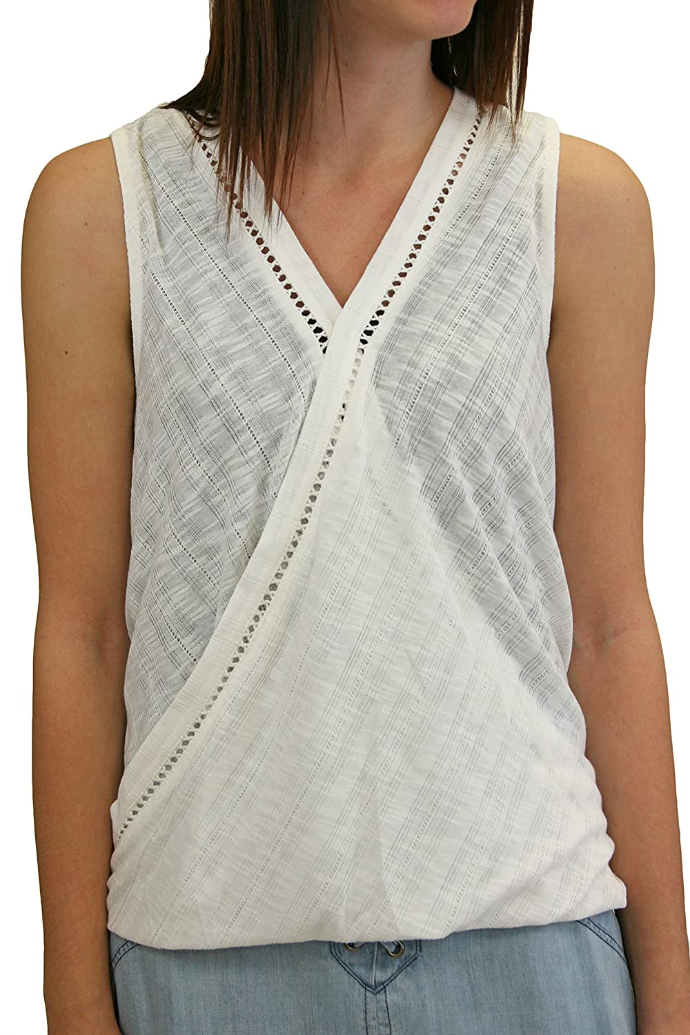 Hem and Thread L4218 White Lace Wrap Top
