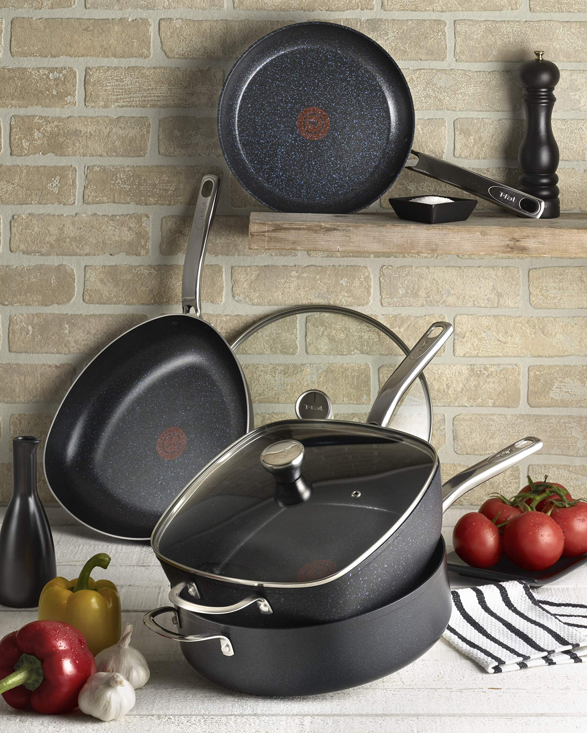 T-fal G10405 Heatmaster Nonstick Thermo-Spot Heat Indicator Fry Pan Cookware, 10-Inch, Black - As Seen on TV by T-fal (Image #5)