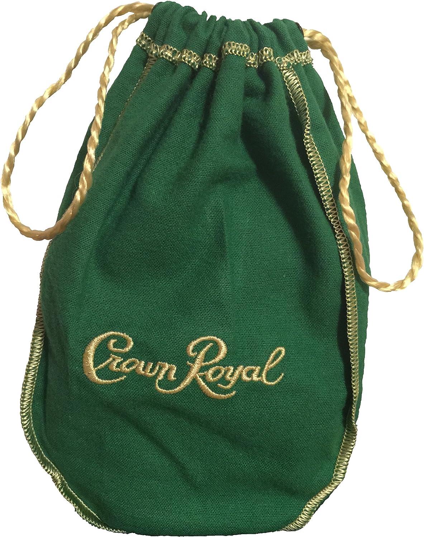 Crown Royal Green Bag Regal Apple with Golden Drawstring by Ashfit Brands