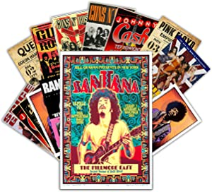HK Studio Vintage Posters of Music Band | Self-Adhesive Vinyl Decal Indie Posters for Room Aesthetic 90s | Retro Music Posters Wall Collage Kit | Classic Art Poster Bands, Music Art 7.8